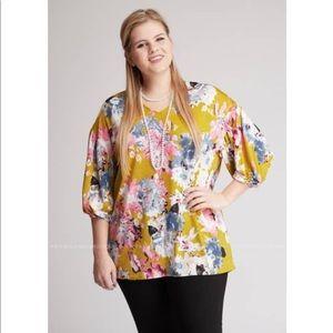Beautiful Women's Plus Sz 3X Yellow Top ~ NWT